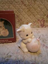 Precious Moments Christmas Ornament Wishing You A Purr-fect Holiday 1990 Kitten
