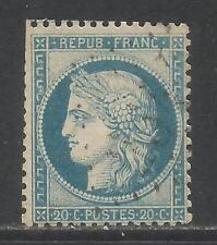 France 1870-73 Ceres 20c dull blue on bluish (57) used