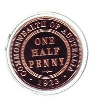 2006 $1.00 SILVER PROOF 1923 HALFPENNY 1oz Coin