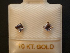 Iolith Ohrstecker Ohrringe - 3 x 3 mm - 10 Kt. Gold - 417 -  Carré Schliff