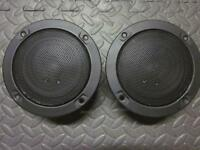 """NEW (2) 5"""" Woofer Stereo Speakers.Sealed MidRange Pair.8 ohm.Five inch w/Grill."""