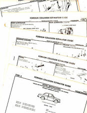 1961 1962 1963 1964 1965 1966 1967 TO 1974  VOLKSWAGEN VW TYPE 3 CRASH SHEETS MF