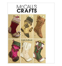 """Sew & Make McCall's M5549 SEWING PATTERN - 18"""" Embellished CHRISTMAS STOCKINGS"""