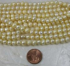 "India Guarantee 100% Natural Fresh Water Pearl 6.00mm Beads Strand 16"""