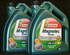 2x5 Liter Castrol Magnatec Diesel 10W-40 Motoröl 10W40 A3/B4  Motorenöl FIAT