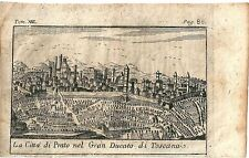 1768 PRATO Salmon Toscana acquaforte originale su rame