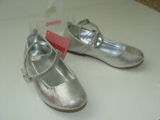 Gymboree Dance Team Silver Shoes Big Girls Size 3 NEW