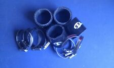 Silicone Hose 48mm Fluro Lined Bike Carb Fitting Kit BLACK