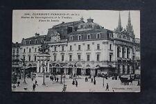 Carte postale ancienne CLERMONT-FERRAND - Statue de Vercingétorix et le Théâtre
