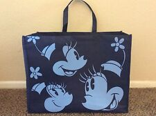 NEW DISNEY Store reusable TOTE BAG - MICKEY MINNIE MOUSE Navy BLUE Eco Grocery