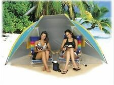Beach Hut Cabana Sun Shelter Shade Tent w/floor SPF 50 w/carry bag 48x111x54 NIB