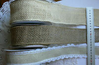 BURLAP Jute Mesh Approx 52 & 65mm Wired 2 MtrLengths 3 Style Choice May Arts LLD