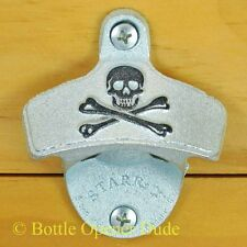Embossed SKULL AND BONES Pirate Starr X Wall Mount Bottle Opener Classic New!!