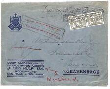M123 1937 Netherlands *BRISTOL* Postal Stationery {samwells-covers}PTS