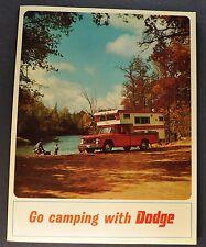 1967 Dodge Truck Brochure D100 Pickup A100 Compact Van Sportsman Motor Home RV