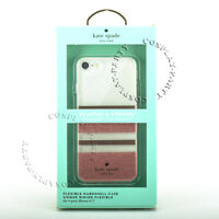 Kate Spade iPhone 7 & iPhone 8 Cover Case - Charlotte Stripe Rose Gold Glitter