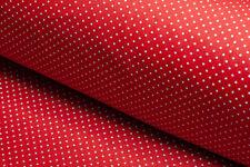 Stoff Popeline Baumwollstoff rot Punkte weiß