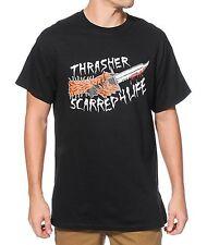 Thrasher Tee Neckface Scarred Black FREE POST New Skateboard Magazine T-Shirt