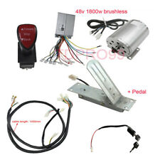 1800W 48V Brushless Motor Controller Throttle Pedal Wire Harness Reverse Switch