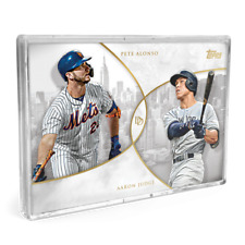 2019 Topps On-Demand Set #16 Dynamic Duals Base Cards- Alonso/Judge- Trout/Acuna