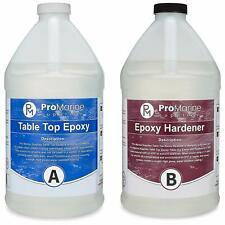 Pro Marine Supplies Crystal Clear Bar Table Top Epoxy Resin Coating for Wood Tab