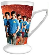 Set of 6 Mugs. White & Red Mugs Set of 6 Coffee Mug, Cocoa Mug Tea Cup