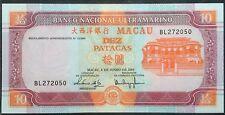 Macau 10 Patacas 2003 unc