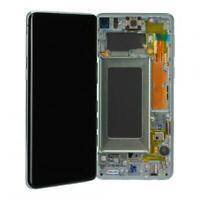 Original Samsung Galaxy S10+ G975F LCD Display Ersatz Touch - Prism Green Grün