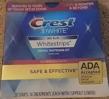Crest 3D Whitestrips Dental Whitening Kit Glamorous White 28 Strips Exp 12022