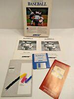 Championship Baseball Commodore Amiga Game Complete ICB Vintage Sports Untested
