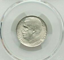 1924-R ITALY VITTORIO EMANUELE III NICKEL 50 CENTESIMI PCGS AU-58 KM61.1 RARE