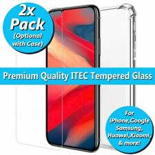 Tempered Glass Screen Protector for iPhone Android Huawei Samsung Case Cover