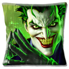 "The Joker 16""x16"" 40cm Cushion Cover Batman Film Character with Scary Smile"