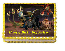How to Train a Dragon Birthday Party Icing Edible Cake Topper 1/4 sheet