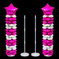 Balloon Column Stand Set For Birthday Party Decoration With 20 Balloon Clips