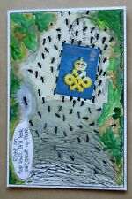 QUEEN'S AWARD TO INDUSTRY 1990 RARE HAND PAINTED 'ANTS - RIGHT ON TOP LADS' FDC