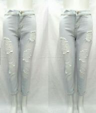 HIGH WAIST TATTERED JEANS SIZE 31