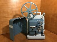BELL & HOWELL 363 BLUE 8MM MOVIE FILM PROJECTOR VARI-SPEED - EXCELLENT SHAPE!