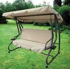 Dondolo 3 posti ecru' in metallo trasformabile a letto col.ecru arredo giardino