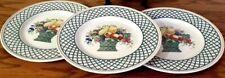 Villeroy Boch Basket 3 Dinner Plates Fruit Design Germany Back Stamp