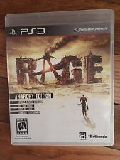 Rage anarchy edition (Sony PlayStation 3, 2011) Complete