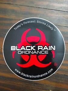 BLACK RAIN ORDNANCE RECON  PRECISION FIREARM Glossy RED & Black STICKER DECAL