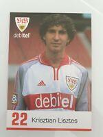 Krisztian Lisztes Autogrammkarte VfB Stuttgart 2000/01 Original Signiert