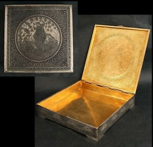 Antique Early 19thC Sgnd Hallmarked Esfahan Imperial Russian Sterling Silver Box