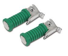 2x Fußraste Soziusfußrasten grün chrom pass für Simson S50 S51 S70 S53 S83