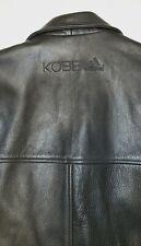 Kobe Bryant Adidas Black Genuine Leather Jacket. Size Large. Extremly RARE.