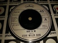 "STEVE MILLER BAND * ROCK 'N' ME * 7"" SINGLE EXCELLENT 1976 MERCURY"