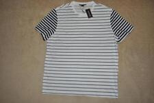 Michael Kors Mens' Striped T-Shirt Black/White CS75FXY34A Size XL NWT