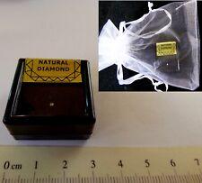 Tiny Natural Faceted  Diamond  in Acrylic Box + Organza Gift Bag