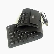 Waterproof Silicone Keyboard Foldable Flexible USB Mini Dustproof dirt Proof
